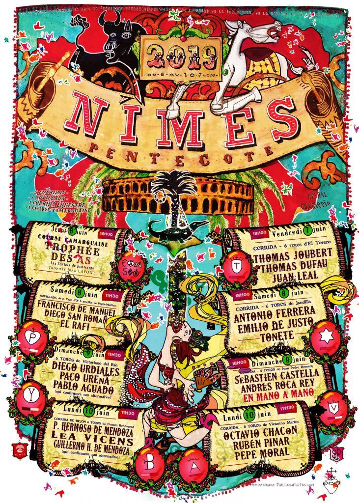 2019-2-pentecote-feria-nimes-cartel-affiche-toril-picasso-feria2019
