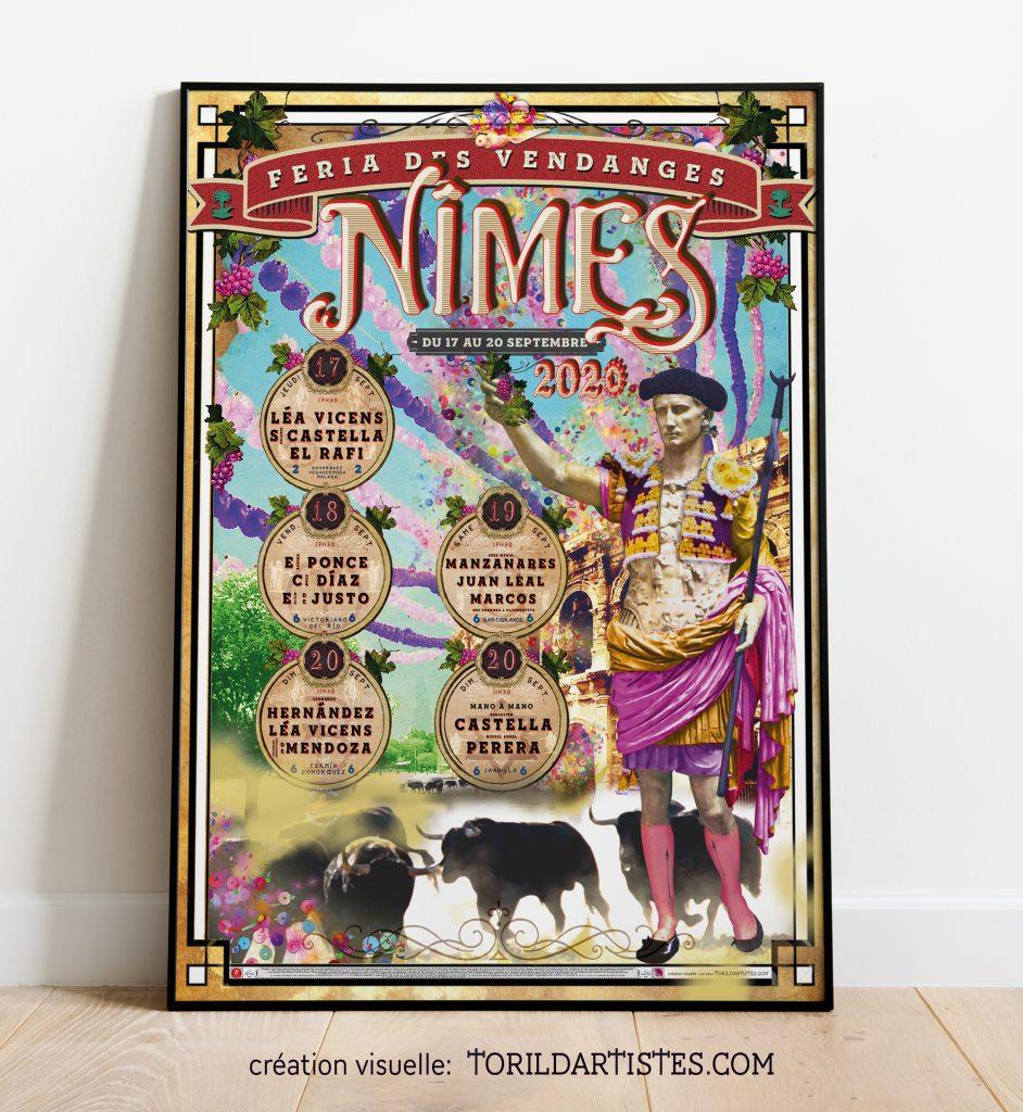 affiche feria Nimes