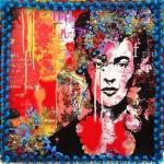 Frida-bleu-12x12cm, Prix : 30€