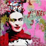 Frida-nu-12x12cm, Prix : 30€