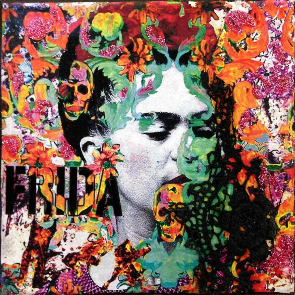 Frida-rose-12x12cm, Prix: 30€