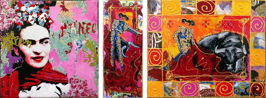 les nouvelles toiles de Cyril MAZET et de DI MEO