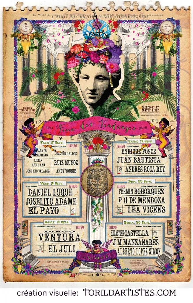 affiche-feria-nimes-2015-vendanges