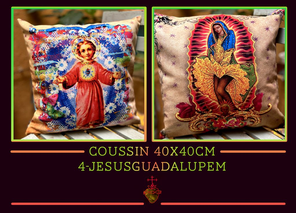 coussin guadalupe jesus