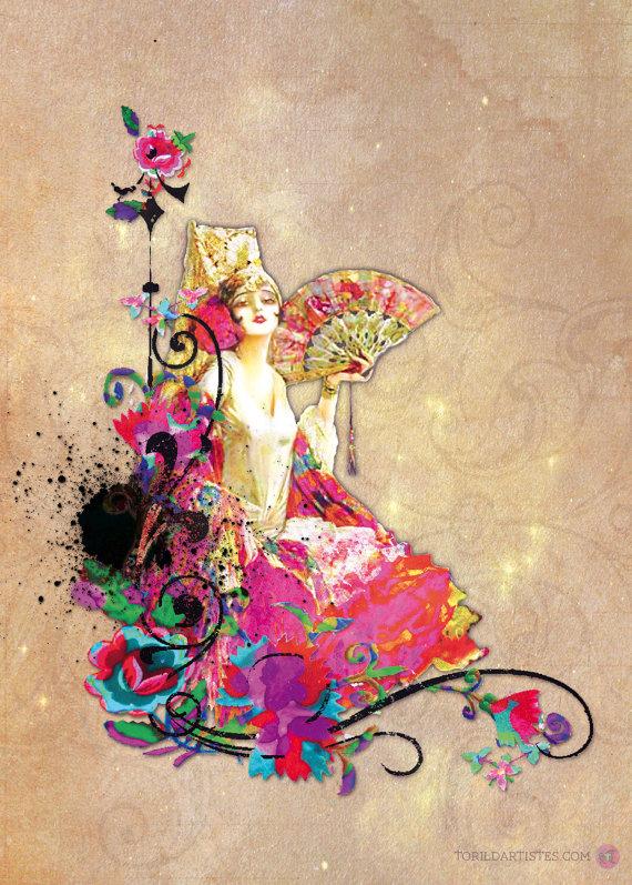 affiche flamenco kitch