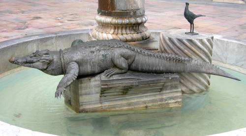 Martial raysse les interventions de l 39 artistes dans la ville for Peinture crocodile