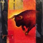 Rouge et Or, 19x24 cm, Prix 90€