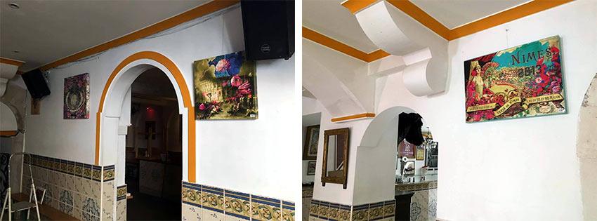 Les toiles chez la Macarena