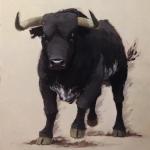 Toro-en-gris2, 73x22 cm, Prix :  300e