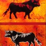 Toro 1, 45x60 cm, Prix : 300€